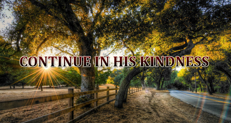 Romans 11:22 - Continue in His Kindness