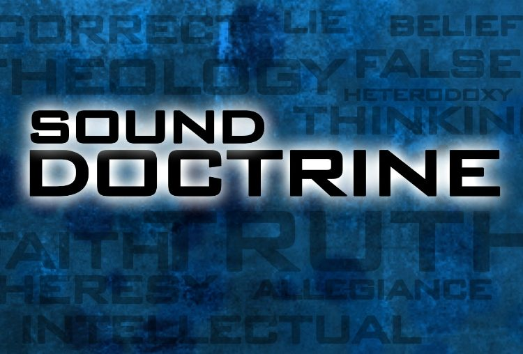 Sound doctrine is read OUT of the bible